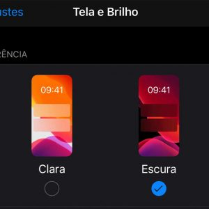 Modo escuro no iPhone